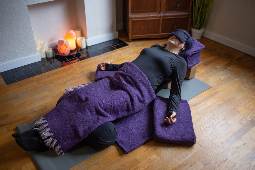 heart Bed Pose- Restorative Yoga